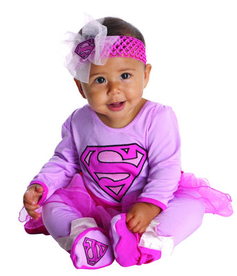 Pink Baby Supergirl Costume