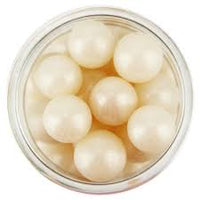 Edible Pearlized Ivory Sugar Pearl Dragees 8MM, 4oz