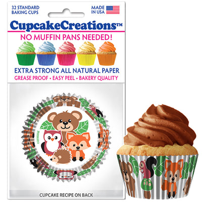 Woodland Animals Baking Cups 32 Pack