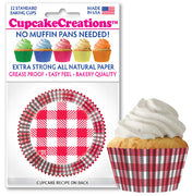 Red & White Plaid Grease Proof Cupcake Liners 32 Pack