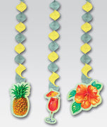 Luau Hanging Cut Outs/ Set of 3