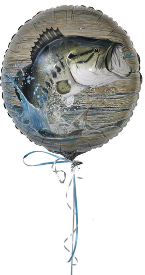 Bass Fishing Theme Mylar Balloon