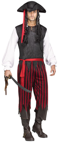 Adult Deluxe Caribbean Pirate Costume
