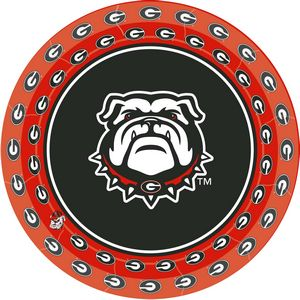 University of Georgia Dessert Plates 8 Pack