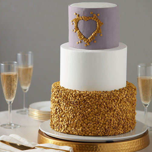 Edible Gold Cake Sequins