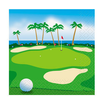 Golf Ocean View Cocktail Napkins 24 ct
