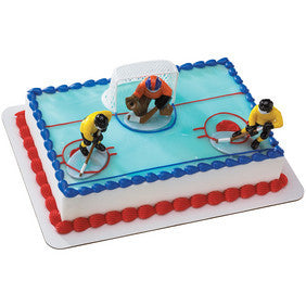 Hockey Face Off Cake Topper - DecoPac