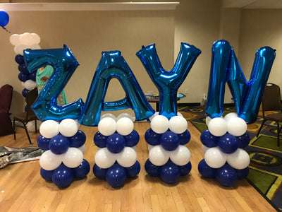 Name/Letter Balloon Columns
