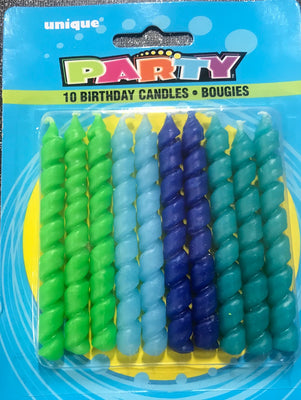 Spiral Birthday Candles / 10 Candles