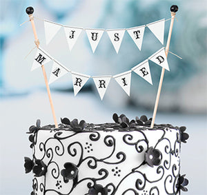 """Just Married"" Cake Bunting Topper"