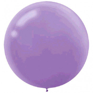 24 Inch Round Lavender Latex Balloons 4 Pack