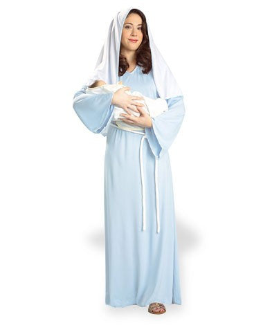 Christmas Nativity Blue Mother Mary Costume
