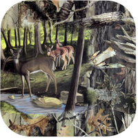 "Next Camo Deer  7"" Salad Plates - 8 Count"