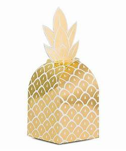 Golden Pineapple Favor Box / 8 Count