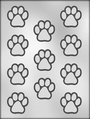 Animal Paw Print Chocolate Mold