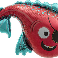 Pirate Fish Mylar Balloon
