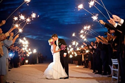 96 Piece Pack - Deluxe Wedding Sparklers- 16 Packs of 6 Sparklers/ 36