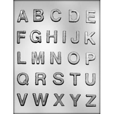 "1"" Full Alphabet Chocolate Mold"