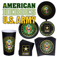 "Official US Army PartyWare- 9"" Plates/ 8 Count/ Heavyweight"