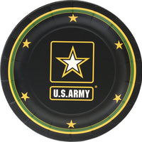 "Official US Army Party Collection - 7"" Dessert Plates/8 Count/Heavyweight"