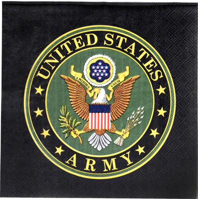 Official US Army Party Ware - Luncheon Napkins/ 16 Count / 3 Ply