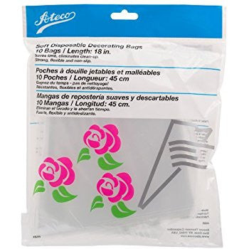 "Ateco Soft Disposable Decorating Bag - 18""/ 10 Count"