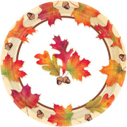 "Autumn Days 9"" Dinner Plates / 8 count /"