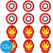 Avengers Icing Decorations - 12 Count