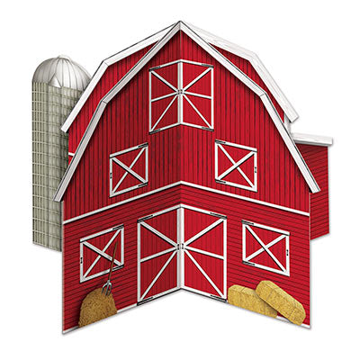 3-D Barn Centerpiece - 10 in.