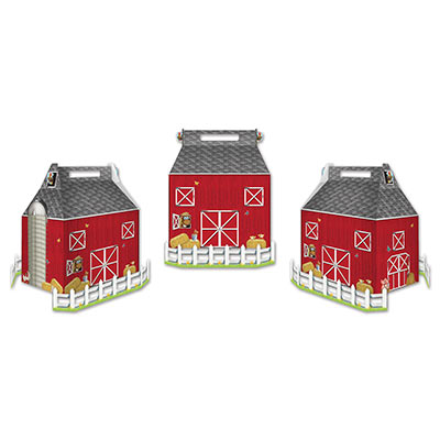 Barn Favor Boxes - 3 Count/3 inch x 5.25 in.