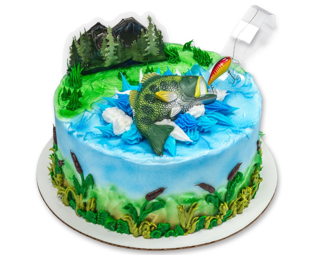 Peachy Bass Fishing Cake Topper Kit Party Shop Emporium Funny Birthday Cards Online Eattedamsfinfo