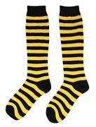 Yellow Bumble Bee Striped Long Socks