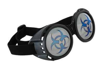 Biohazard Goggles Black/Mirror