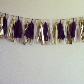 Tassel Garland/ Available in 3 Colors/9 feet