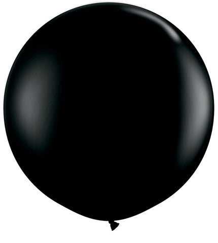 24 Inch Round Black Latex Balloons
