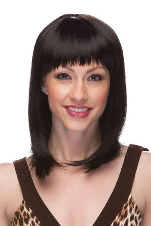 Shoulder Length Banged Adult Wig