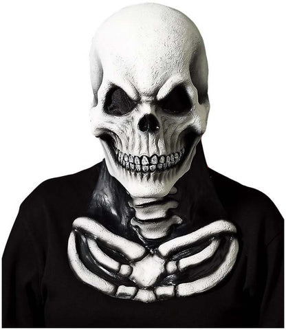 Skull Face Deluxe Mask with attached Chest