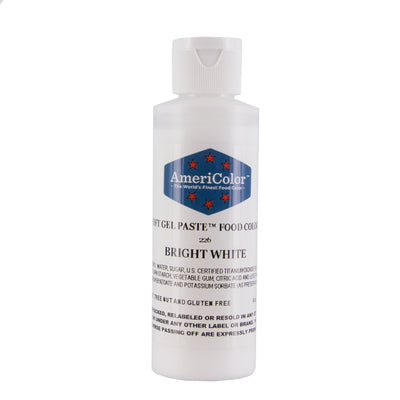 Americolor Bright White Color Gel Paste 6 oz