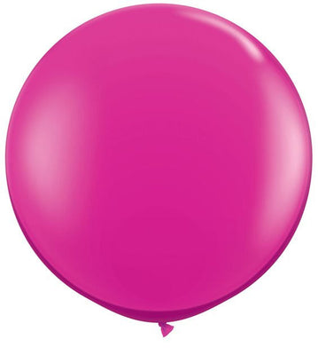 Bright Pink Large Round Balloons