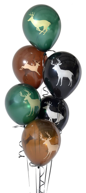 Deer Buck Latex Balloons 6 Pack