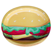 Burger BBQ - Oval Platters/ 12 x 10 in. /8 Count