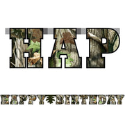 Next Camo Deer Birthday Banner