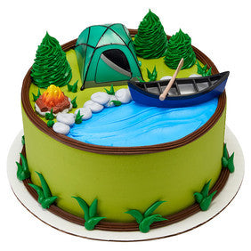 Fireside Camping And Canoe Tent Cake Topper Kit Party Shop Emporium