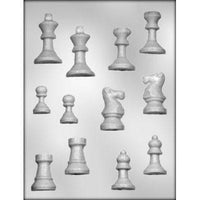 Chess Pieces 3-D Chocolate Mold