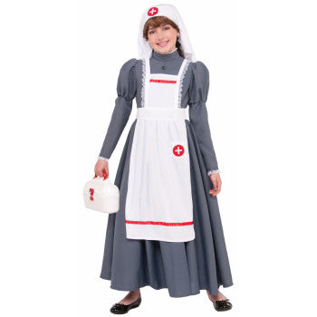 Girl's Civil War Clara Barton Nurse Costume