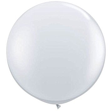 24 Inch Round Clear Latex Balloons - 4 per pack.