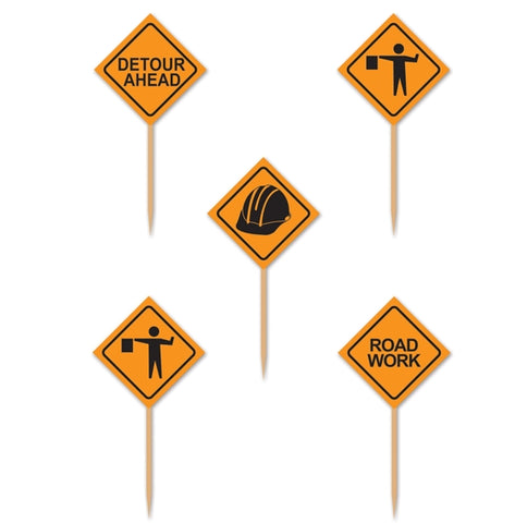 Construction Sign Picks - 50 Pcs.