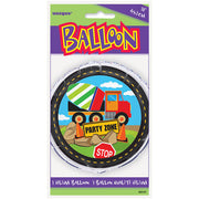 Construction Party Mylar Balloon 18""