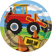 Construction Party Plates 7 inch