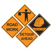 Construction Sign Cut Outs - 4 Pieces.